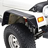 E-Autogrilles 97-06 Jeep Wrangler TJ Flat Style Front + Rear Fender Flares with Side LED lights(17192)