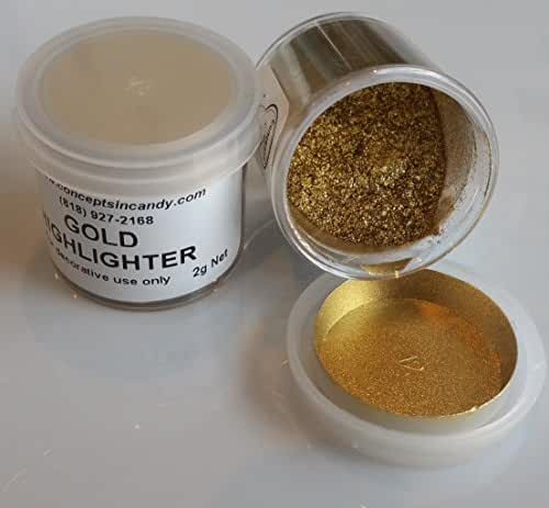 Gold Highlighter Dust, 2 grams by Concepts In Candy