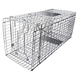 Gingbau Humane Live Animal Trap Collapsible Cage for Cat, Rabbit, Large Squirrel, Opossum, Armadillo, Groundhog and Raccoon - 32' x 11' x 13'