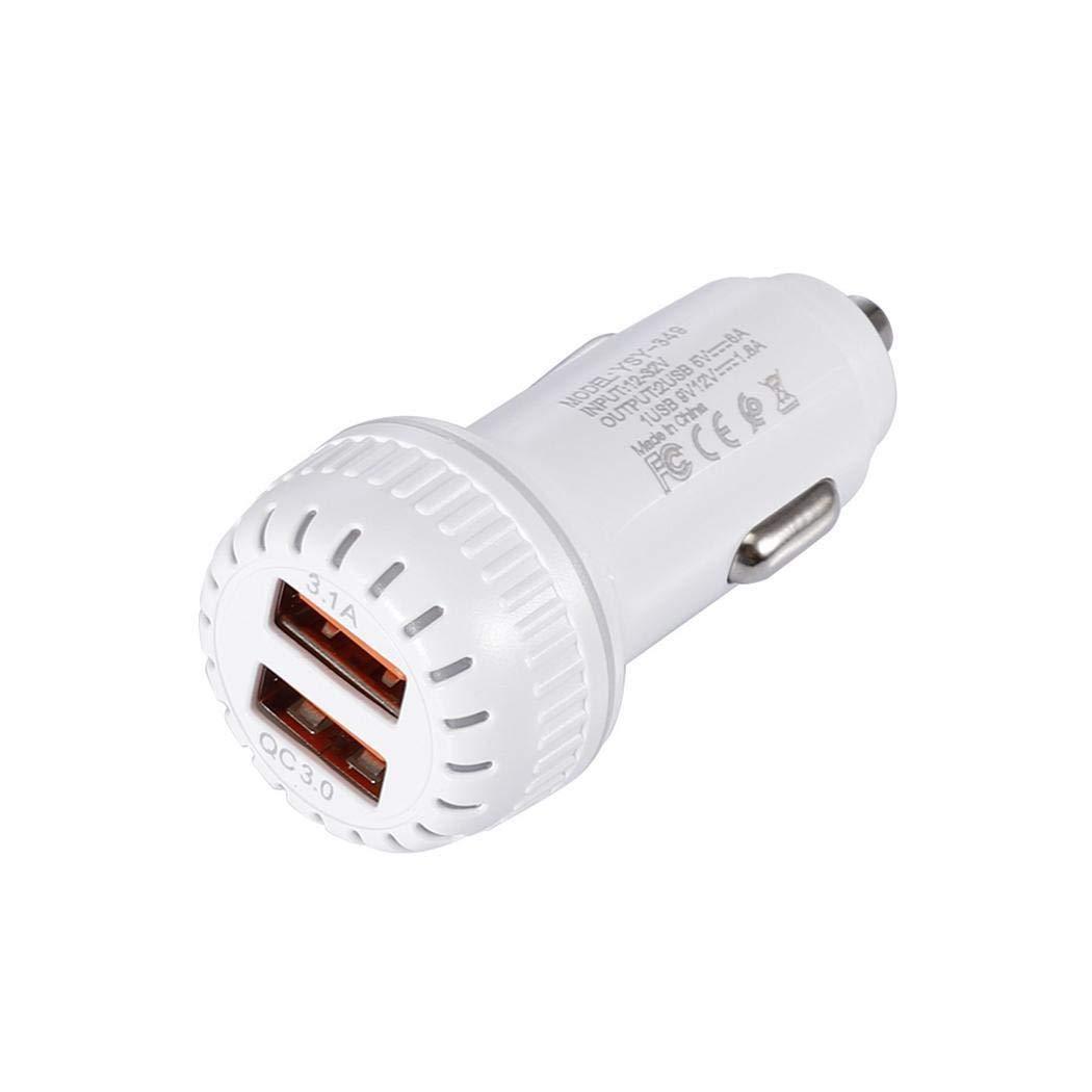 Zuionk Cargador de Coche USB Dual port/átil de Alta Velocidad Duradero para tel/éfono m/óvil Bases de Carga