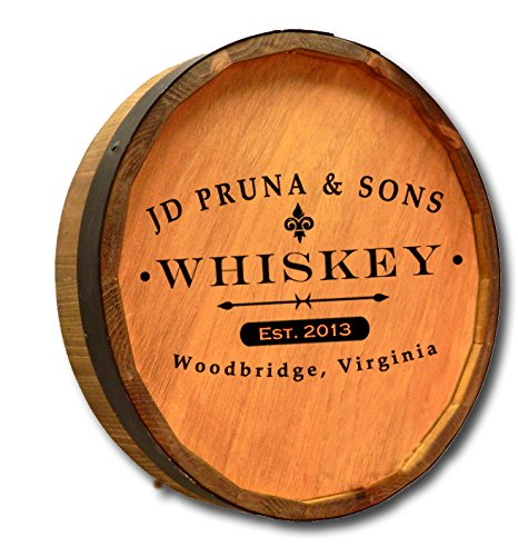 Personalized Whiskey Label Quarter Barrel Sign (Quarter Wine Barrel compare prices)