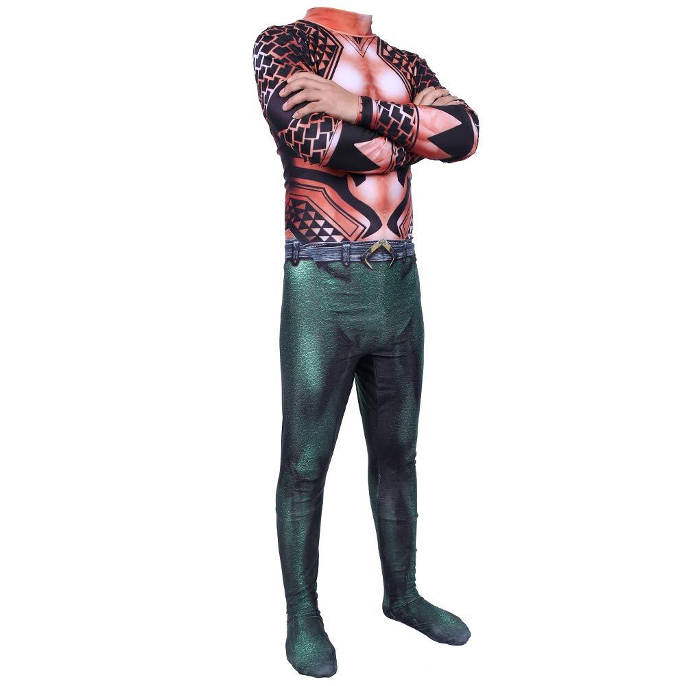 ASJUNQ Neptun - Costume di Carnevale, Motivo  Mascherata, Rosso, XXLarge