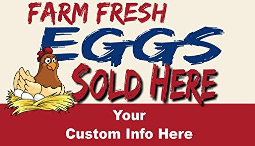 Reviews/Comments Farm Fresh Eggs For Sale Custom Business Cards - Box 250