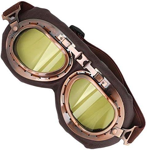 サイクリングゴーグル、ヴィンテージゴーグル ハーレーバイクゴーグル オートバイクメガネ 多目的利用 UV保護 保護メガネ 防砂塵 防風 アウトドア用