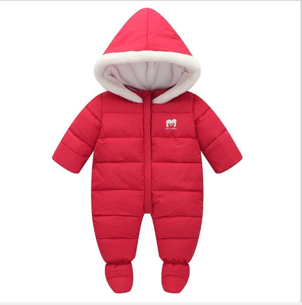 Ohrwurm Unisex Baby Snow Suit Winter Zip Up Long Sleeve Footies One-Piece Jumpsuit