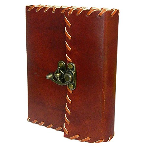 Handmade Leather Cover Journal Diary Notebook Personal Travel Journal Recipe Book Organizer With Lock 7 5 Inches Birthday Gifts For Him  Her