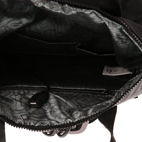 MagiDeal 1x Laptop Rucksack Diebstahl Wasserdichte Reisetasche Schule Bookbag mit Usb Port