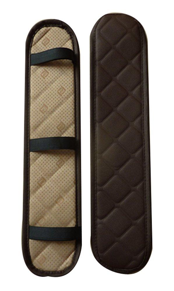 Leather Center Console Armrest Cover Brown Black Temptation