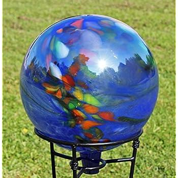 Amazon Com Glass Gazing Ball Quot Sea Green Quot 12 Inch By Iron