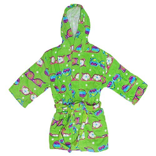 St. Eve Girls Beach Cover-Up Robe (Large / 10-12, Lime Sunglasses)