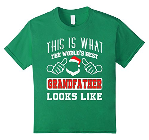 Kids Funny Grandfather costume ideas T-shirt for love 8 Kelly Green