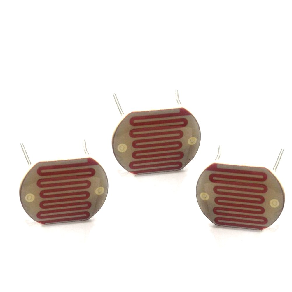 longxinda 5pcs 100 - 20 K Ohm fotorresistencia foto resistencias light-dependent resistencia 1 * 0.846inches CD celdas LDR: Amazon.es: Amazon.es