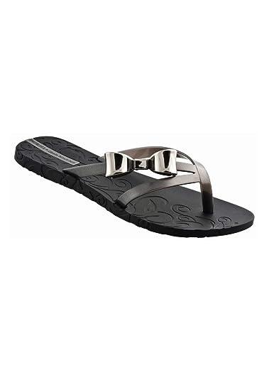 05a047e1d59 Ipanema - Gisele Bundchen Hawaii Bow Flip Flop - Black  Amazon.co.uk  Shoes    Bags