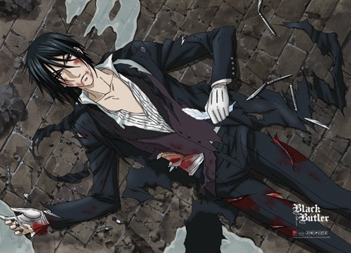 Black Butler: Sebastian Wounded Anime Wall Scroll