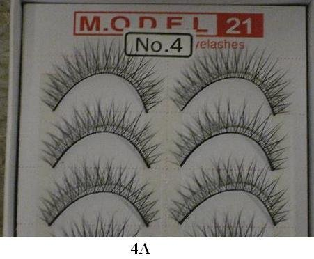Model 21 False Eyelashes No. 4A - Light, 10 Pair