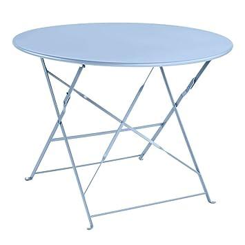 Truffaut Table Ronde En Acier D.95cm : Ciel: Amazon.fr: Jardin