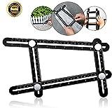 AMENVTOOL Universal Angularizer Ruler - Full Metal Multi Angle Measuring Tool-Upgraded Aluminum Alloy Multi Functional Ruler(Black)-Ultimate Angleizer Template Tool