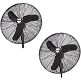 Air King Industrial Grade 3 Speed 30 Inch Oscillating Wall Mount Fan (2 Pack)