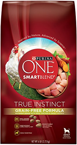 Purina ONE SmartBlend Dry Dog Food, True Instinct, Grain Fee Formula with Chicken & Sweet Potato - (1) 6 lb. Bag
