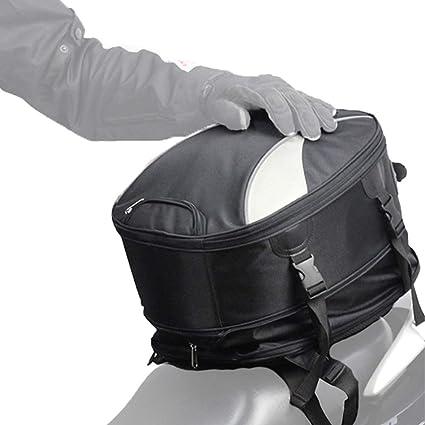 Madbike Bolsa de Cola de Motocicleta expandible Impermeable, Bolsa de Casco Multifuncional Mochila para Deportes al Aire Libre Bolsa de Asiento ...