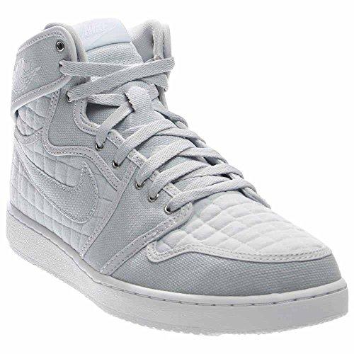 Jordan Nike Men's AJ1 KO High OG Pure Platinum/White Mtllc Slvr Basketball Shoe 9.5 Men US