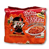 Samyang Halal Buldak Topokki Flavour Spicy hot Chicken Ramen Made in Korean Edition 5 Pack Hot Spicy Fire Noodle 700g Chewy & Springy