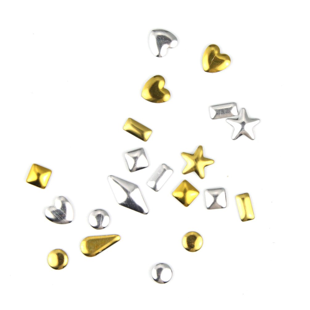 Glow Nail Art Decorations; Mixed Metal Studs Design; Approx 1200 pieces (NA90) Paragon Enterprise Limited Glow-NA-90