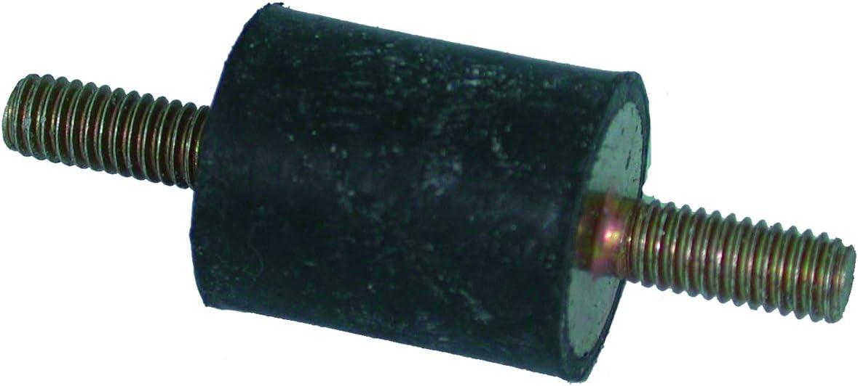 Stecker L/änge 15/mm schwarz 27541 Greenstar Silentblock Universald/ämpfer