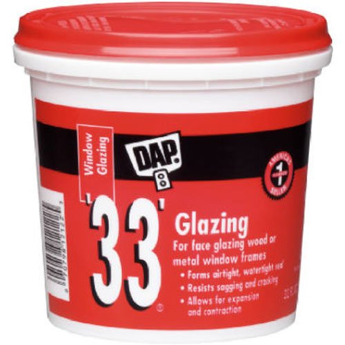 Dap 12121 33 Glazing Compound, 1-Pint, White