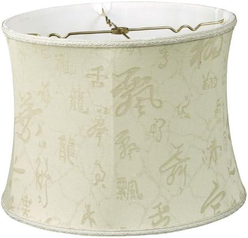 Royal Designs Bell Drum Designer Lamp Shade, Light Oriental Pattern, 14 x 15 x 11