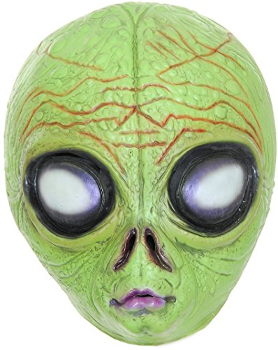 Gold Shadow Alien Scary Sci-Fi Halloween Costume Mask