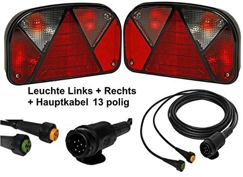Aspö ck Multipoint 2 - Leuchten Set - 13polig - 4m Kabel FKAnhängerteile