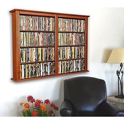 Venture Horizon Wall Mount Media Cabinet Double Cherry