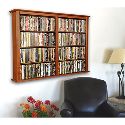 Venture Horizon Wall Mount Media Cabinet Double Cherry