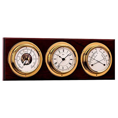 Barigo Weather Station With Barometer Comfortmeter & Clock (Part #386Ma By Barigo) (Weather Station For Boat)
