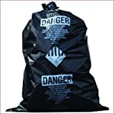 TheSafetyHouse Black Asbestos Bags 32 x 48 x 6 Mil Full Gauge 75/case