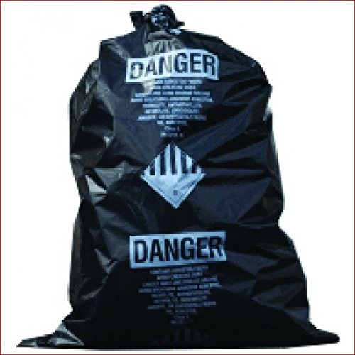 TheSafetyHouse 28'' x 38'' 5 Mil Black Asbestos Bags 100/roll by TheSafetyHouse