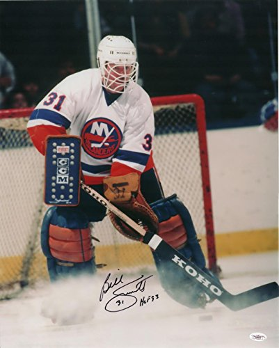 Billy Smith Autographed Picture - 16x20 ! Goalie! Stanley Cups! COA - JSA Certified - Autographed NHL Photos