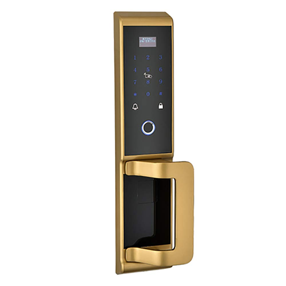 BLWX - Smart Door Lock-Aluminum-Automatic Fingerprint Lock Home Security Door Electronic Lock Card Door Lock Wooden Door Lock Smart Password Lock Door Lock (Color : B)