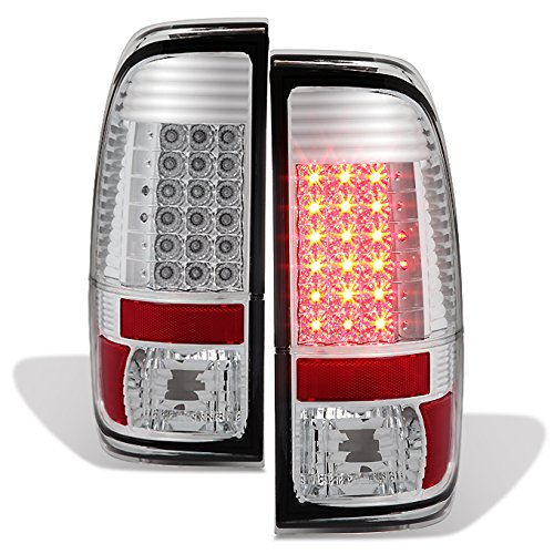 For 08-16 Ford F-Series Superduty Pickup Truck LED Tail Lights Brake Lamp Replacement Left + Right Pair