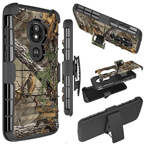 Moto E5 Play Case, Moto E5 Cruise Phone Case, Ueokeird [Heavy Duty] Armor Shock Proof [Swivel Belt Clip] Holster [Kickstand] Rugged Combo Case Cover for Motorola Moto E5 Play (camo) (Camo Motorola Phone Case)
