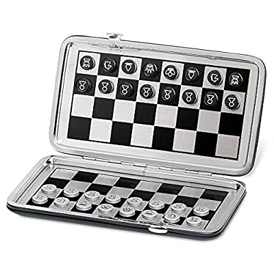 Ovee Lando Pocket Travel Magnetic Chess Board Game Set