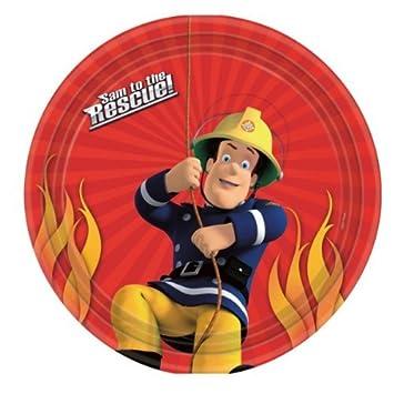Amazon.com: Sam el bombero fiesta de cumpleaños platos de ...