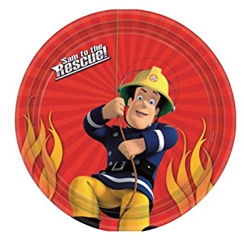 Fireman Sam Birthday Party Paper Plates x 8: Amazon.co.uk: Toys & Games