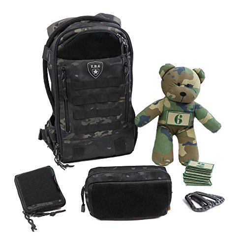 Tactical Baby Gear Daypack 3.0 Full Load Out Tactical Diaper Bag Backpack Set (Black Camo) from Tactical Baby Gear