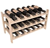 Wine Racks America Ponderosa Pine 18 Bottle Stackable. Unstained