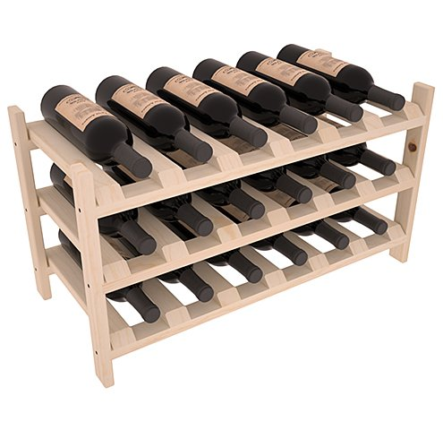 Wine Racks America Ponderosa Pine 18 Bottle Stackable. Unstained For Sale