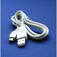 Mini USB CB-USB4 - Cable Cord Lead Wire for Olympus Digital Cameras D-380, D-390, D-395, D-520, D-535, D-540, D-550, D-555, D-560, D-565, D-575, D-580, D-590, D-700, Fe-100, Fe-110, Fe-115, Fe-170, Fe-210, Fe-270 Digital Camera Cable - 2.5 Feet white – Bargains Depot®