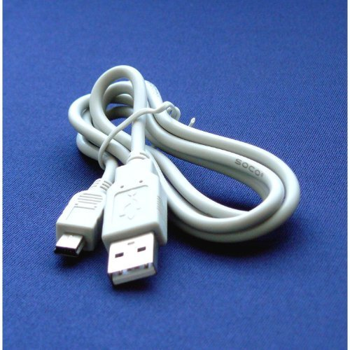Mini USB UC-E4, UC-E5 - Cable Cord Lead Wire for Nikon D100, D200, D2H, D2Hs, D2X, D2Xs, D3, D300, D3000, D300S, D3100, D3S, D3X, D40, D40X, D50, D5000, D5100, D60, D70, D700, D7000, D70S, D80, D90, E2000 Digital Camera Cable - 2.5 Feet white - Bargains Depot® ()