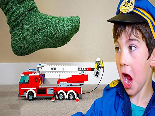 Don't Step On The Lego Toys! Pretend Play Cops And Robbers Skit ()